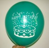 green adverting punch balloon