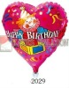 happy birthday DIA 18'' heart shape inflatable foil balloon