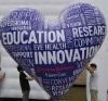 heart shape iIflatable helium balloon
