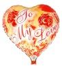 helium love balloon