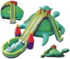 hot inflatable bouncy water slide with pool