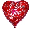 hot selling high quality heart shape inflatable advertising foil balloons