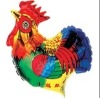 hot selling high quality inflatable chicken shape foil balloon