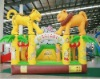 hot selling yellow animal world inflatable jumper