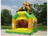 inflatable bouncer in yard