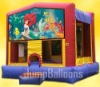 inflatable bouncer with art banners