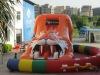 inflatable sabertooth tiger slide