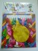 latex balloon (144pcs) card packed balloon