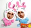 lovely rabbit 3d face dolls toy