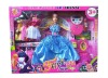 new design fashion beauty doll set with beautiful dress and beauty accessory decoration