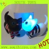 new rubber cat toy with light and miaow