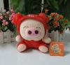 new style red plush pig doll custom plush dolls cute pig doll pig rabbit doll