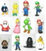 new super mario bros vinyl toys(12 in 1 set)