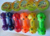 pets toys--Dumbbell with bone print.pet toys,pet supply,colorful dumbbell toy