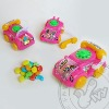phone with car pull back kid toy candy