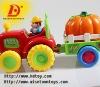 plastic b/o construction car toy w/music&light