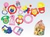 plastic baby rattle set