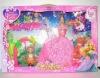 plastic beauty doll set