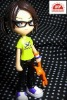 plastic cute girl with glasses
