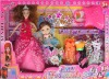 plastic doll, beauty doll set