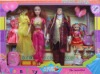 plastic doll, family toy set