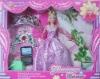 plastic doll in wedding dress