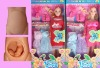plastic doll, mother with baby, doll set