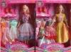 plastic doll, toy set