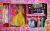 plastic doll with dress and TV