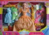 plastic doll with dress and accessories