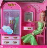 plastic doll with furniture