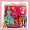 plastic fashion Mother and daughter doll for girl