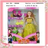 plastic fashion doll for girl