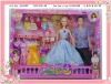 plastic fashion family doll for girl