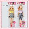 plastic fashion girl dolls for kids