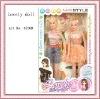 plastic fashion human dolls for kids