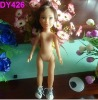 plastic girl figure doll with shoes,mini girl figure doll with hair