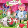 plastic head and soft plush bodies beautiful girl doll with cooking sets ( wink)