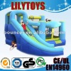 plastic kids playing combo inflatable/inflatable slide&bounce{lilytoys}