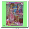plastic lovely girl doll set for kids