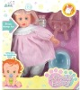 plastic lovely real cooking baby girl doll