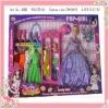 plastic princess series custom doll for babies