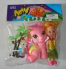 plastic toy, toy animal, doll