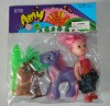 plastic toy, toy dog, pong, doll
