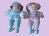 plush girl & boy dolls