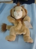 plush lion hand puppet