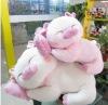 plush sleeping cute pig toy