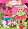plush soft body and plastic face fashion baby doll with garden play sets toys with wink