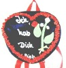 plush soft heart school bag toy MT5175