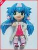 pretty girl with long hair plastic doll/ cartoon doll